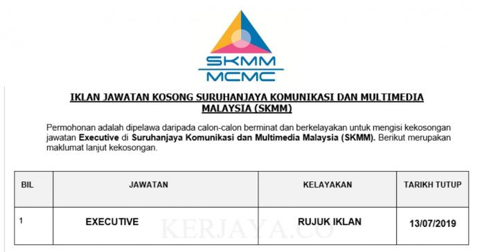 Eksekutif Suruhanjaya Komunikasi dan Multimedia Malaysia (SKMM)