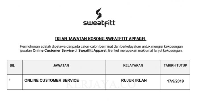 Sweatfitt Apparel ~ Online Customer Service