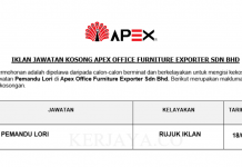 Apex Office Furniture Exporter ~ Pemandu Lori