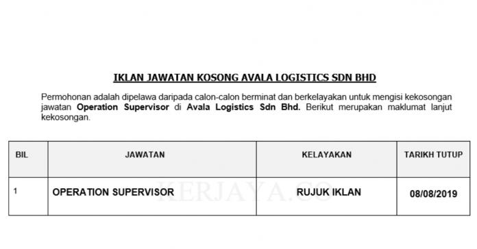 Avala Logistics ~ Operation Supervisor
