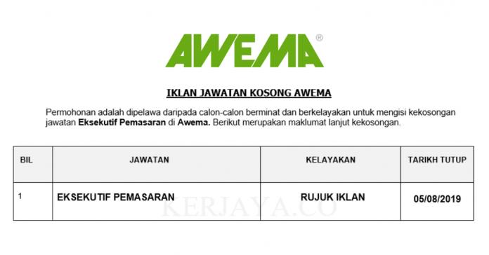 Awema ~ Eksekutif Pemasaran