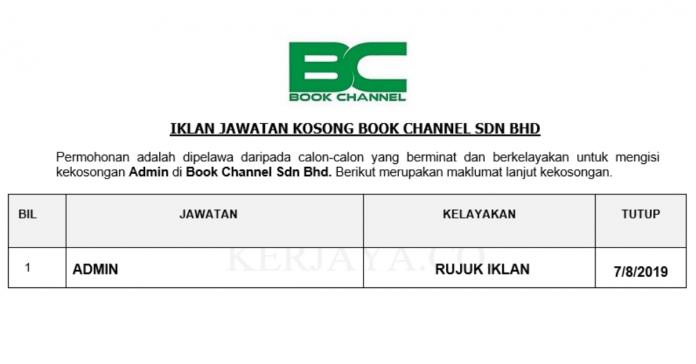 Book Channel Sdn Bhd ~ Admin
