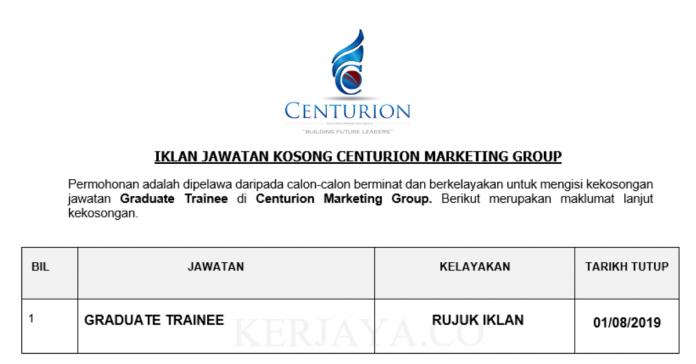 Centurion Marketing Group ~ Graduate Trainee