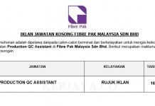 Fibre Pak Malaysia ~ Production QC Assistant