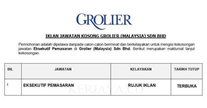 Grolier ~ Eksekutif Pemasaran