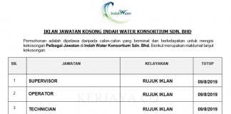 Indah Water Konsortium ~ Supervisor, Operator & DLL