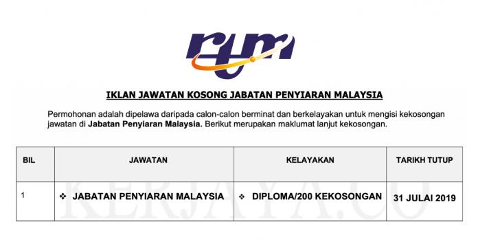 Jabatan Penyiaran Malaysia (RTM)