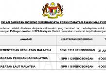 Jawatan Kosong Terkini Suruhanjaya Perkhidmatan Awam Malaysia (SPA Malaysia) (1)