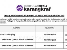 Kumpulan Media Karangkraf ~ IT Eksekutif, Juru Teknik & Pemandu Peribadi