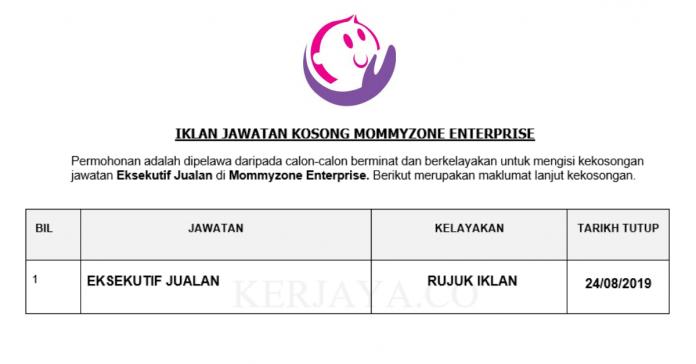 Mommyzone Enterprise ~ Eksekutif Jualan