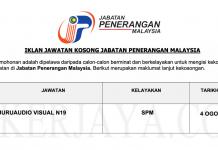 Permohonan Jawatan Kosong Terkini Jabatan Penerangan Malaysia