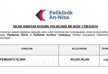 Poliklinik An-Nisa' Cyberjaya ~ Pembantu Klinik
