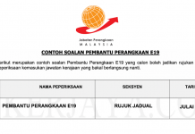 Soalan Pembantu Perangkaan E19