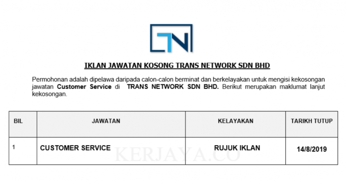 Trans Network ~ Customer Service