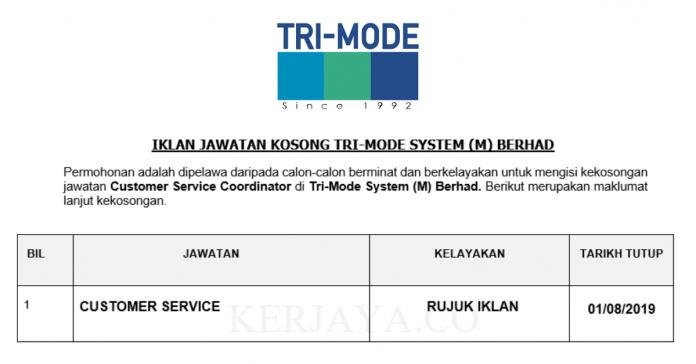 Tri-Mode System ~ Customer Service