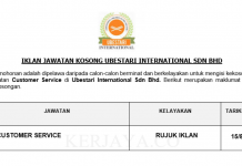 Ubestari International ~ Customer Service