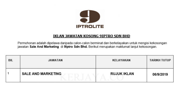 9Iptro ~ Sale & Marketing