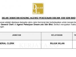 Agensi Pekerjaan Dream-Job ~ General Clerk