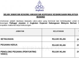 Angkatan Koperasi Kebangsaan Malaysia Berhad ~ Setiausaha, Pegawai Kerja & Penolong Pegawai