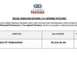 Co-opbank Pertama ~ Eksekutif Pemasaran