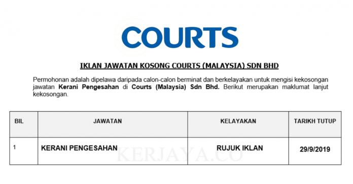 Courts ~ Kerani Pengesahan