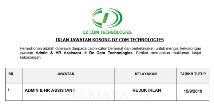 DZ Com Technologies ~ Admin & HR Assistant
