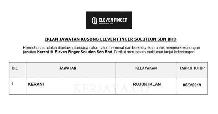 Eleven Finger Solution ~ Kerani