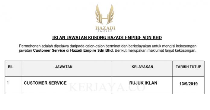 Hazadi Empire ~ Customer Service