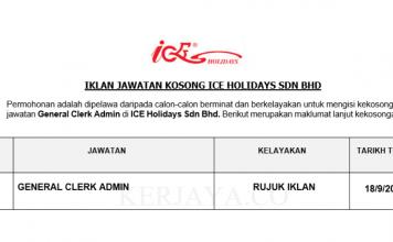 ICE Holidays ~ General Clerk Admin