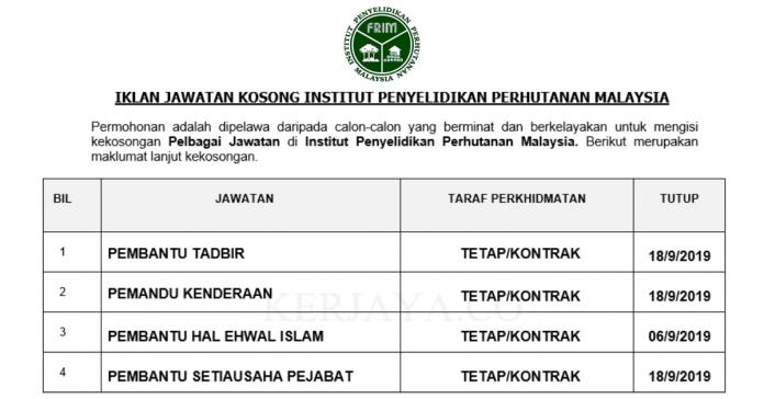 Institut Penyelidikan Perhutanan Malaysia ~ Pentadbiran & Pengurusan