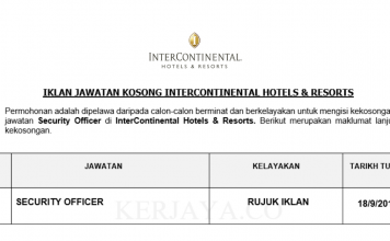 InterContinental Hotels & Resorts ~ Security Officer