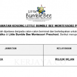 Little Bumble Bee Montessori Preschool ~ Guru Tadika