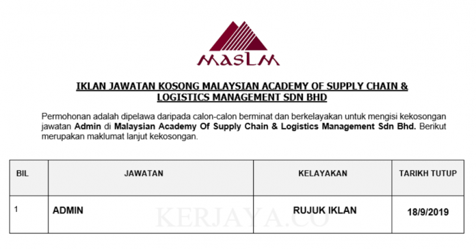 Malaysian Academy Of Supply Chain & Logistics Management ~ Admin