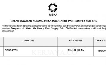 Meka Machinery Part Supply ~ Despatch