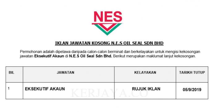 N.E.S Oil Seal ~ Eksekutif Akaun