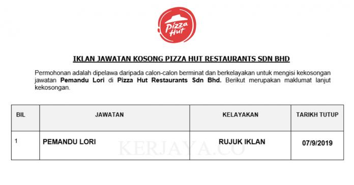 Pizza Hut Restaurants Sdn Bhd