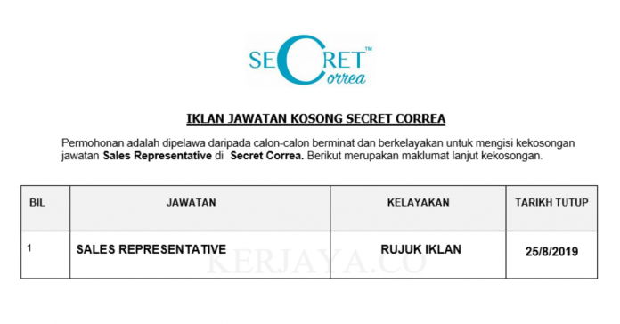 Secret Correa ~ Sales Representative