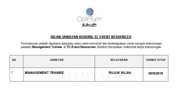 TC Event Resources ~ Management Trainee