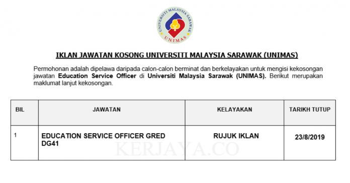Universiti Malaysia Sarawak (UNIMAS) ~ Education Service Officer