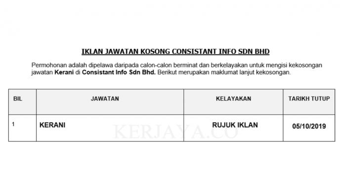 Consistant Info ~ Kerani