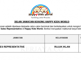 Happy Kids World ~ Sales Representative
