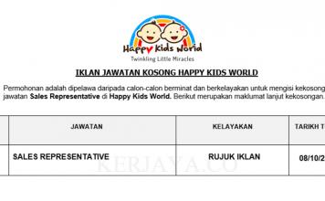 Happy Kids World ~ Sales Representative