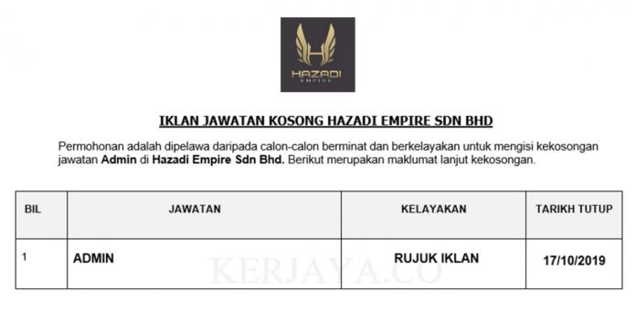 Hazadi Empire ~ Admin