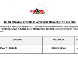 Khass Event Management ~ Pembantu Akaun