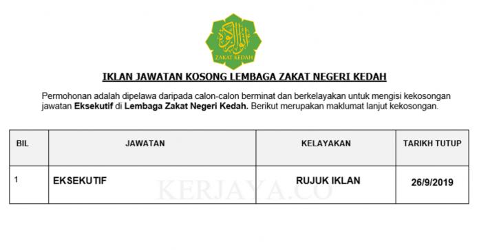 Lembaga Zakat Negeri Kedah ~ Eksekutif