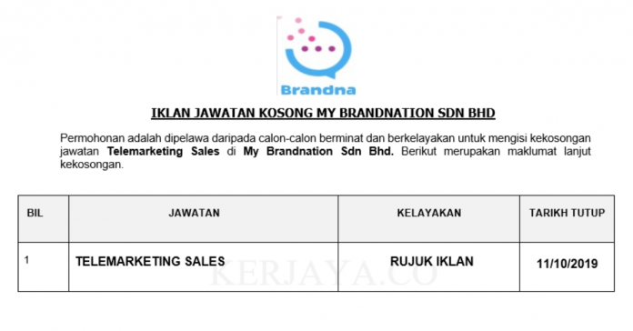 My Brandnation ~ Telemarketing Sales