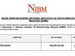 National Institutes of Biotechnology Malaysia (NIBM) ~ Setiausaha