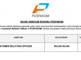 Puspakom ~ Customer Relation Officer