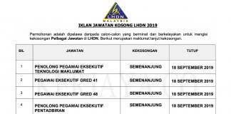 Permohonan Jawatan Kosong Terkini Lembaga Hasil Dalam Negeri (LHDN) (1)