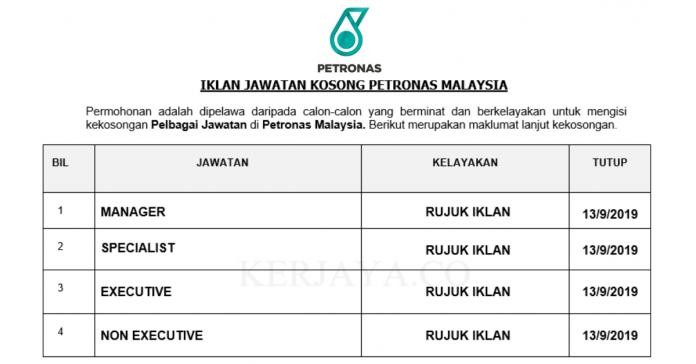 Petronas Malaysia ~ Pelbagai Kekosongan Jawatan